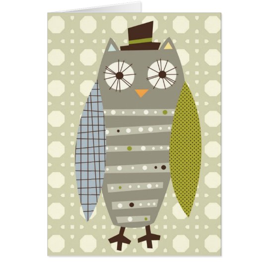 Mr. Owl note card