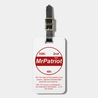 Mr Patriot, the luggage tag