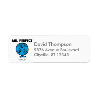 Mr. Perfect | Quietly Content Return Address Label