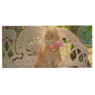 Mr. Perkins Proper Kitty Wood USB Flash Drive
