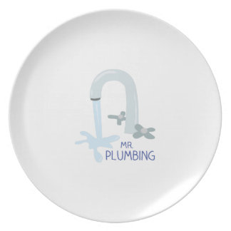 Mr Plumbing Party Plates