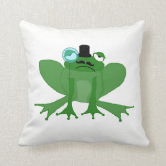 Mr Posh Frog double sided cushion