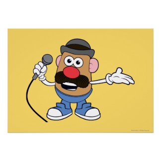 Mr. Potato Head Holding Microphone Poster