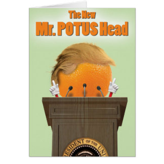 Mr. Potus Head Trump Birthday Joke Paper Card