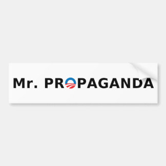 Mr. Propaganda Bumper Sticker