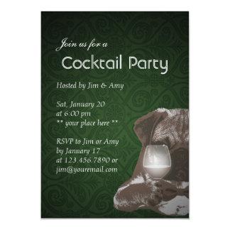 Mr. Pug & Fine Wine Cocktail Party Invitations 03