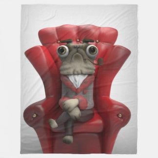 Mr. Pug Rogers Fleece Blanket