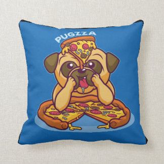 Mr. Pugzza the Pizza Pug Throw Pillow