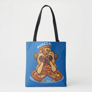 Mr. Pugzza the Pizza Pug Tote Bag