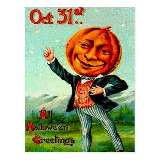 Mr Pumpkin Postcard