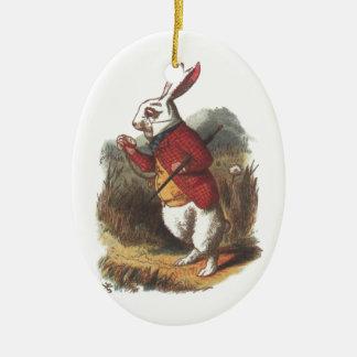 Mr Rabbit! Ceramic Oval Ornament