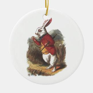 Mr Rabbit! Round Ceramic Ornament