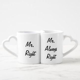 Mr. Right and Mr. Always Right Mug Set