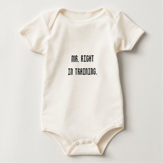Mr. Right in training. Baby Bodysuit