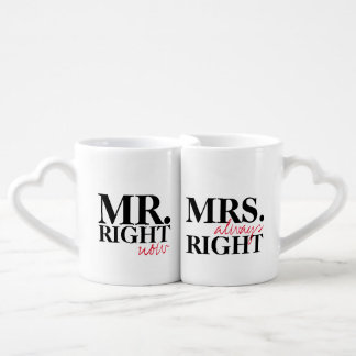 Mr. Right Now, Mrs. Always Right | Nesting Mugs