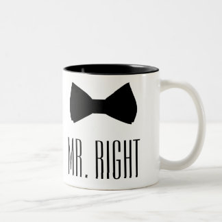 Mr. Right Two-Tone Coffee Mug