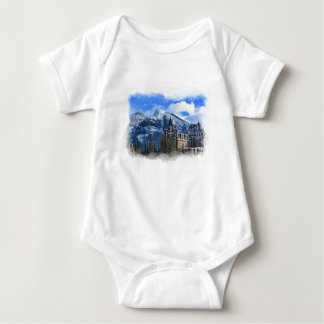 Mr Rundle and Hotel, Banff, Alta, Canada Baby Bodysuit