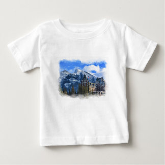 Mr Rundle and Hotel, Banff, Alta, Canada Baby T-Shirt