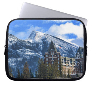 Mr Rundle and Hotel, Banff, Alta, Canada Laptop Sleeve