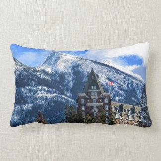 Mr Rundle and Hotel, Banff, Alta, Canada Lumbar Pillow