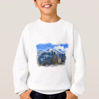 Mr Rundle and Hotel, Banff, Alta, Canada Sweatshirt