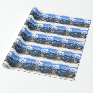 Mr Rundle and Hotel, Banff, Alta, Canada Wrapping Paper