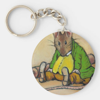 MR. SAMUEL WHISKERS, AFTER BEATRIX POTTER BASIC ROUND BUTTON KEYCHAIN