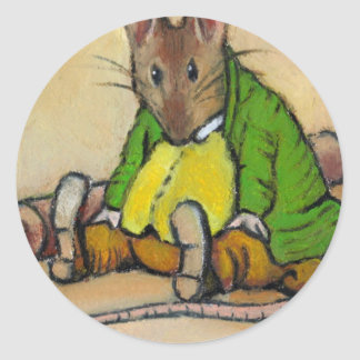 MR. SAMUEL WHISKERS, AFTER BEATRIX POTTER CLASSIC ROUND STICKER