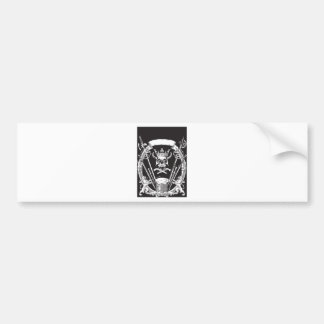 Mr Skull Bumper Sticker