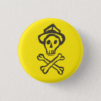 Mr. Skullington - Lemon Yellow 1 Inch Round Button