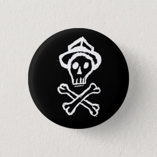 Mr. Skullington - Night Black 1 Inch Round Button