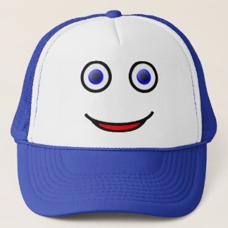Mr. Smiley - Happy Smiley Face Trucker Hat (blue)