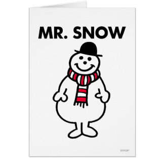 Mr Snow Classic Greeting Card