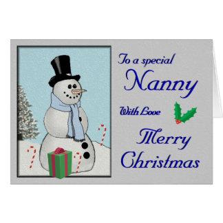 Mr. Snowman Card