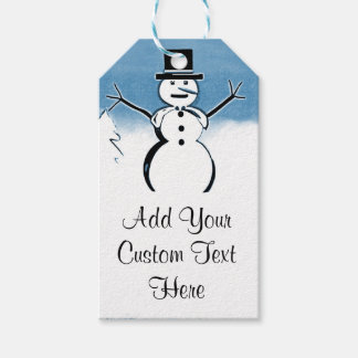 Mr. Snowman Custom Winter Holidays Gift Tags Pack Of Gift Tags
