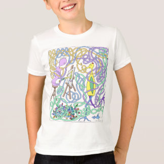 Mr. Squiggly Drawing A Stork T-Shirt