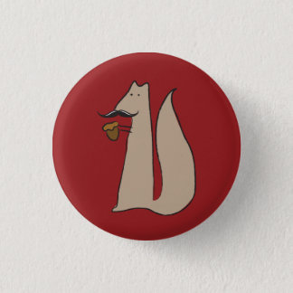 Mr. Squirrel 1 Inch Round Button