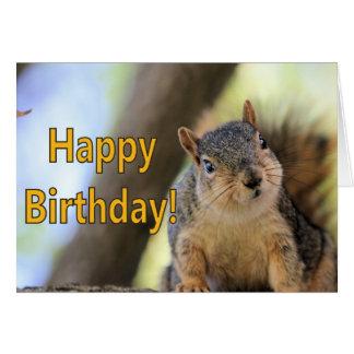 Mr.Squirrel wishing a Happy Birthday Card