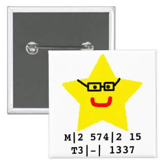 Mr Star is leet. 2 Inch Square Button