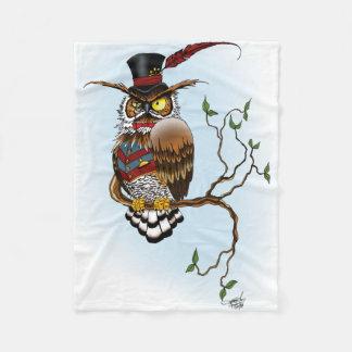 Mr. Steam Owl Fleece Blanket