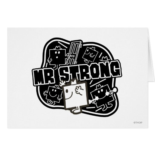 Mr Strong Block Greeting Cards