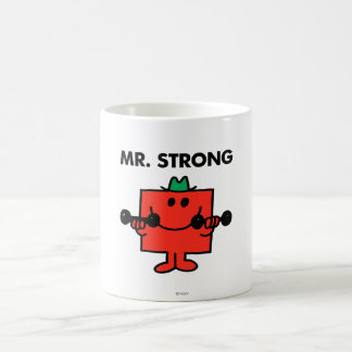 Mr. Strong   Lifting Weights Classic White Coffee Mug
