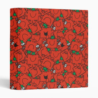 Mr Strong | Lifting Weights Red & Green Pattern 3 Ring Binders