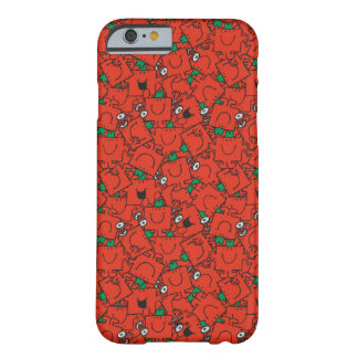 Mr Strong | Lifting Weights Red & Green Pattern Barely There iPhone 6 Case