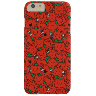 Mr Strong | Lifting Weights Red & Green Pattern Barely There iPhone 6 Plus Case