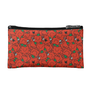 Mr Strong | Lifting Weights Red & Green Pattern Cosmetic Bag