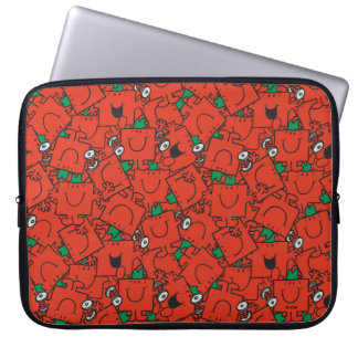 Mr Strong | Lifting Weights Red & Green Pattern Laptop Sleeve