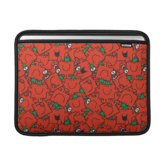 Mr Strong | Lifting Weights Red & Green Pattern MacBook Sleeve