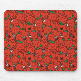 Mr Strong | Lifting Weights Red & Green Pattern Mouse Pad
