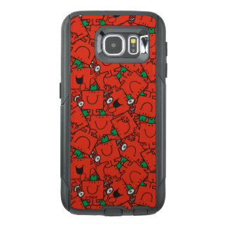 Mr Strong | Lifting Weights Red & Green Pattern OtterBox Samsung Galaxy S6 Case